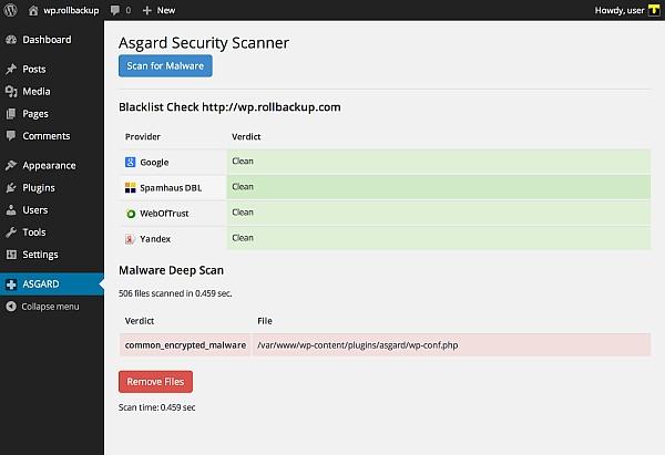 Asgard Security Scanner