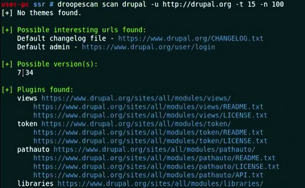 Droopescan — сканер с плагиновой основой