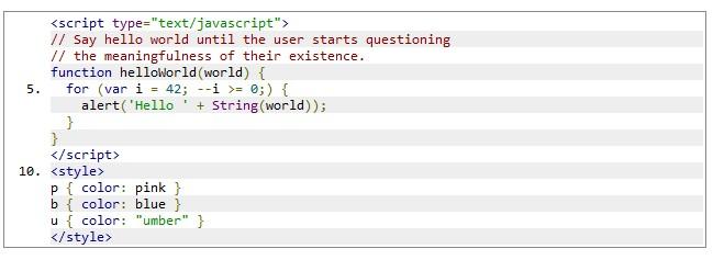Стиль CSS  по умолчанию